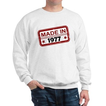 Stamped Made In 1977 Sweatshirt