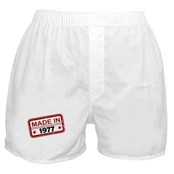 Stamped Made In 1977 Boxer Shorts
