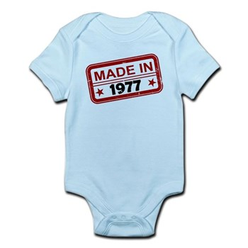 Stamped Made In 1977 Infant Bodysuit