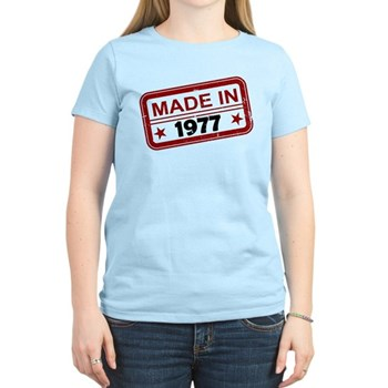 Stamped Made In 1977 Women's Light T-Shirt