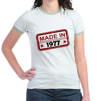 Stamped Made In 1977 Jr. Ringer T-Shirt