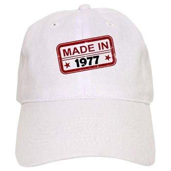 Stamped Made In 1977 Cap