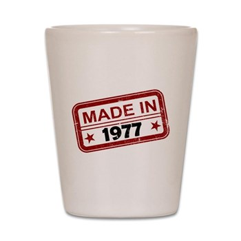 Stamped Made In 1977 Shot Glass