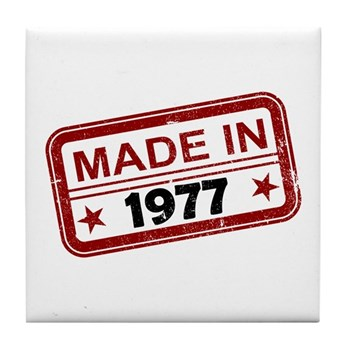 Stamped Made In 1977 Tile Coaster