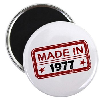 Stamped Made In 1977 Magnet