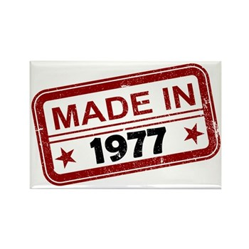 Stamped Made In 1977 Rectangle Magnet (10 pack)