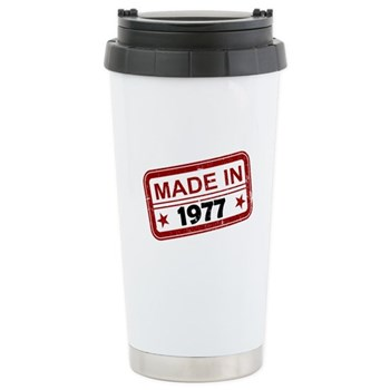 Stamped Made In 1977 Stainless Steel Travel Mug