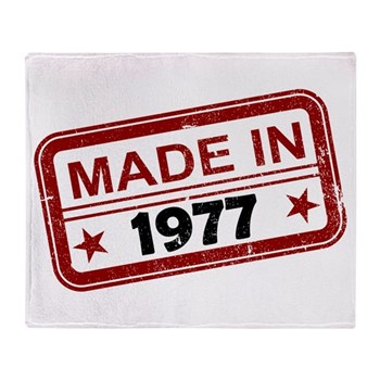 Stamped Made In 1977 Stadium Blanket