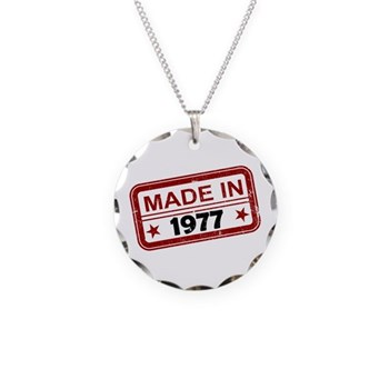 Stamped Made In 1977 Necklace Circle Charm