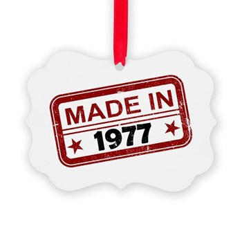 Stamped Made In 1977 Picture Ornament