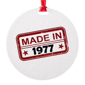Stamped Made In 1977 Round Ornament