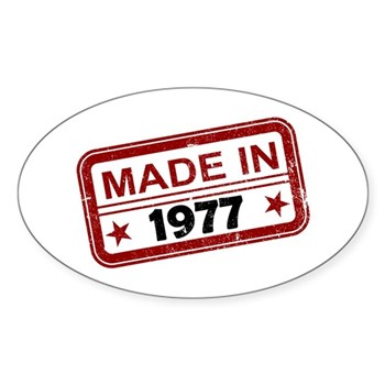 Stamped Made In 1977 Oval Sticker