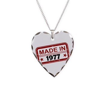 Stamped Made In 1977 Necklace Heart Charm