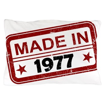 Stamped Made In 1977 Pillow Case