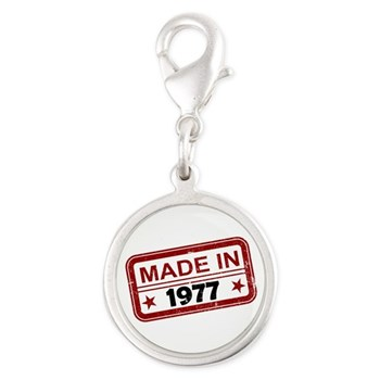 Stamped Made In 1977 Silver Round Charm