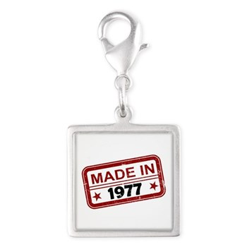 Stamped Made In 1977 Silver Square Charm