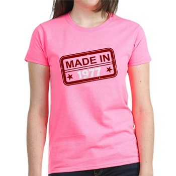 Stamped Made In 1977 Women's Dark T-Shirt