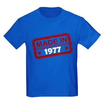 Stamped Made In 1977 Kids Dark T-Shirt