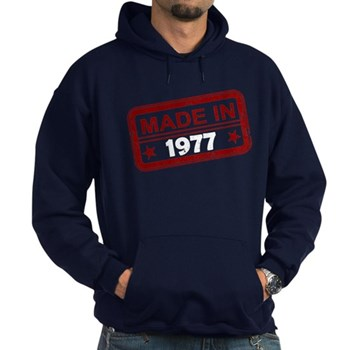Stamped Made In 1977 Dark Hoodie