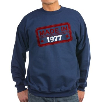 Stamped Made In 1977 Dark Sweatshirt