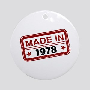 Stamped Made In 1978 Round Ornament