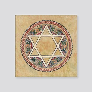"STAR OF DAVID Square Sticker 3"" x 3"""