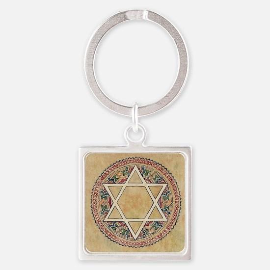 STAR OF DAVID Square Keychain