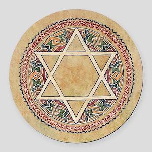 STAR OF DAVID Round Car Magnet