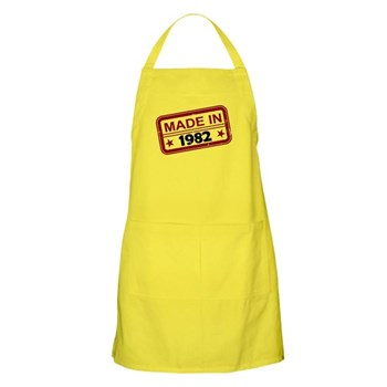 Stamped Made In 1982 Apron
