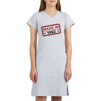 Stamped Made In 1982 Women's Nightshirt