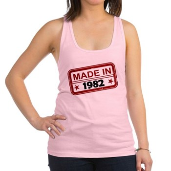 Stamped Made In 1982 Racerback Tank Top