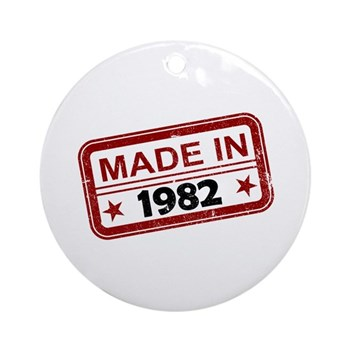 Stamped Made In 1982 Round Ornament