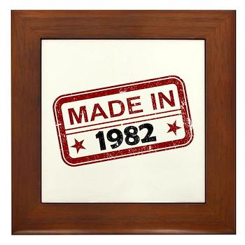 Stamped Made In 1982 Framed Tile