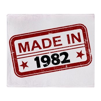 Stamped Made In 1982 Stadium Blanket
