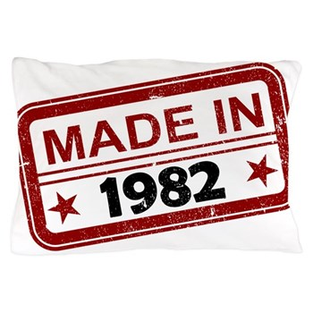 Stamped Made In 1982 Pillow Case