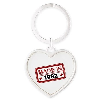 Stamped Made In 1982 Heart Keychain