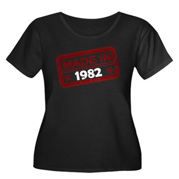 Stamped Made In 1982 Women's Dark Plus Size Scoop