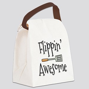 Flippin Awesome Cooking Canvas Lunch Bag