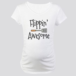 Flippin Awesome Cooking Maternity T-Shirt