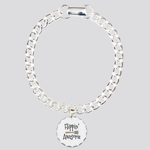 Flippin Awesome Cooking Charm Bracelet, One Charm