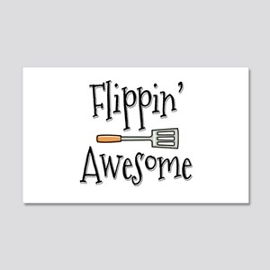 Flippin Awesome Cooking 20x12 Wall Decal