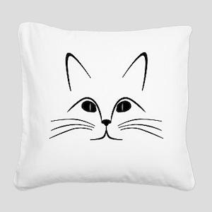 CAT FACE Square Canvas Pillow
