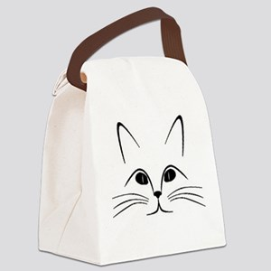 CAT FACE Canvas Lunch Bag