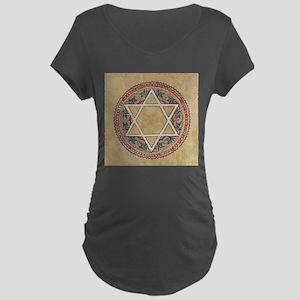 STAR OF DAVID 2 Maternity Dark T-Shirt
