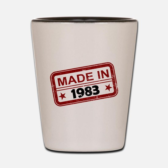 Stamped Made In 1983 Shot Glass