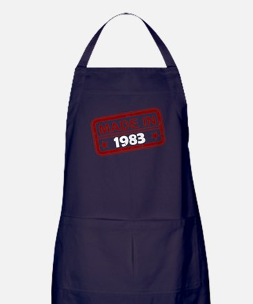 Stamped Made In 1983 Dark Apron