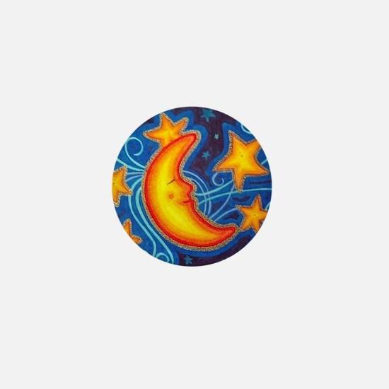 Moon and Stars Mini Button