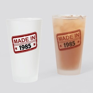 Stamped Made In 1985 Drinking Glass