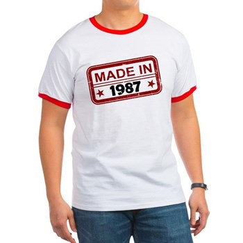 Stamped Made In 1987 Ringer T-Shirt