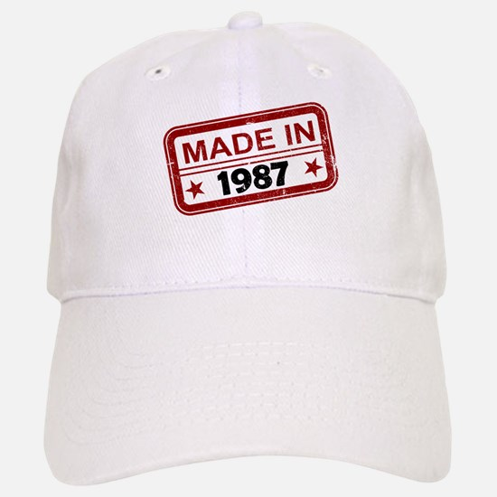 Stamped Made In 1987 Baseball Baseball Cap